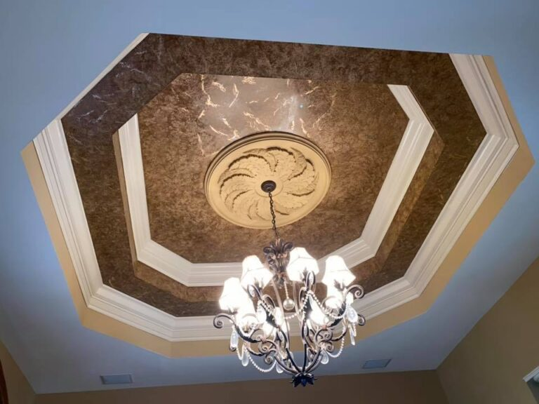 Ceiling Faux Finish Transformation by Mr Faux Chris Burke Gainesville, Virginia