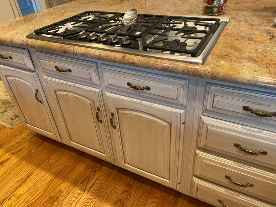 Mr Faux Glazed Cabinetry Kitchen Island McLean, Virginia