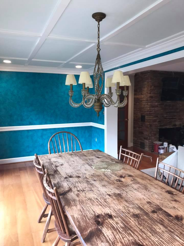 Mr. Faux Heavy Textured Dining Room Walls 3